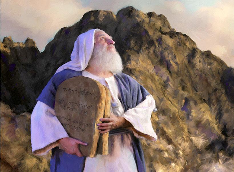 библейские картинки моисей на горе плюшевой пряжи